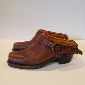 Frye belted harness mule made in usa 7.5